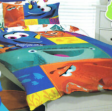 Finding Dory Nemo - squares - Single/US Twin Bed Quilt Doona Duvet Cover Set