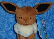 Happy Eevee Pokemon Plush Doll Toy by Tomy USA from 2016 Brand New with Tags