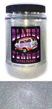 1lb Blakes Metal Flake .008 Alpha Plata Prismático Hot Rod Custom Automoción