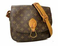 Auth LOUIS VUITTON Saint Cloud GM Shoulder Bag Monogram Brown A-1209