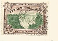 SOUTHERN RHODESIA 1929 KING GEORGE V; VICTORIA FALLS 2D USED SG29