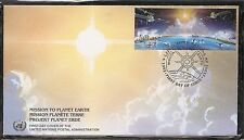 United Nations Sc # Ny 609-610 Mission To Planet Earth, Unpa Fdc.