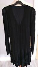 Zara Charleston Gatsby Flapper Dress Black Size 10 Ladies Womens