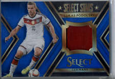 Lukas Podolski Jersey /99 2015 Panini Select Select Stars Memorabilia Blue