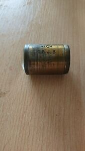 R & J Beck Antique Brass Microscope Lens in Leather Case