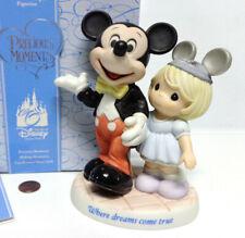 NEW Disney MICKEY MOUSE & GIRL FIGURINE Where Dreams Come True Precious Moments!
