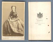 Thiébaut, Paris, Impératrice Eugénie Vintage CDV albumen carte de visite CDV,