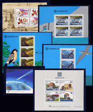 1986 Portugal, Azores, Madeira Complete Year MNH. 6 Souvenir Sheets, Blocks.