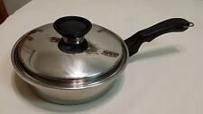 "Vintage 9"" Cook-O-Matic Waterless 18/8 Stainless Steel Pan &Insert &Lid Used USA"