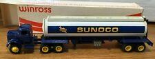 Winross White Sunoco Tractor/Tanker Trailer 1/64