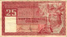 05 Netherlands / Niederlande P84 25 Gulden 1949