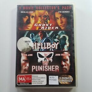 3 Movie Collector's Pack: Ghost Rider, Hellboy, The Punisher   DVD Movies   2007