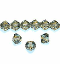 SCB621f Black Diamond 8mm Xilion Faceted Bicone Swarovski Crystal Beads 12pc