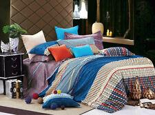 Brand New 500TC Cotton King Bed Quilt/Doona Cover 5Pieces Set, Multicolour AQ227