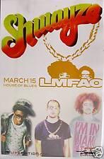 SHWAYZE/LMFAO SAN DIEGO 2009 CONCERT TOUR POSTER-HIPHOP