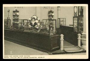 British Empire Exhibition Bengal Pavilion Brass & Copper Ware Tuck vintage PPC
