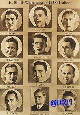 Fußball Weltmeisterschaft + Weltmeister Postkarten Serie + 1938 + ITALIEN