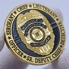 CHIEF Michigan Police Department Officer Public Safety MPS MPD Challenge Coin US
