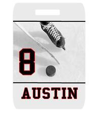Personalized Custom HOCKEY BAG TAG For Sports Duffle Bags Backpacks Luggage