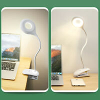 Touch Clip Desk Lamp Eye Protection Rechargeable USB LED Table Reading Light