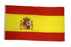 Spain Flag Size 3x5ft 90x150cm Flags Eyelets