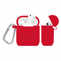 Alpha Gamma Delta Deboss Silicone Cover for Apple AirPod Charger