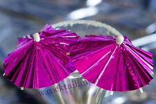 Noël verre décorations (rose feuille cocktail parapluies) x 50