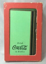 1936 Complete 52 GREEN COCA COLA Soda PLAYING CARDS & BOX Original Vintage