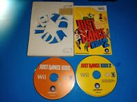 Just Dance Kids 1 2 Nintendo Wii 2 Game Bundle- Tested & Works