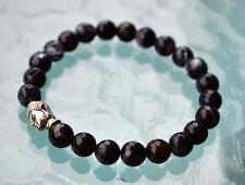 Black Onyx Jade Wrist Mala Beads Healing Bracelet Root Chakra Mala Beads - Emoti