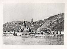 Vintage Photogravure of Kaub, Rhine River Germany