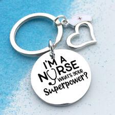 I'm a Nurse Keychain Pendant Key Ring Charm Jewelry Decor Gift Keyring BB