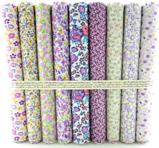 Fat Quarters Quilting Fabric 9 Bundles for Patchwork sewing Floral Cotton