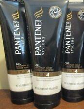 Lot of 3 Pantene Pro-V Stylers Gel #4 Maximum Hold 24 Hour Frizz Control 6.8 oz