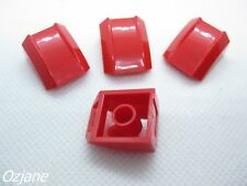 LEGO PART 30602 RED SLOPE CURVED 2 X 2 LIP NO STUDS FOR 4 PIECES new