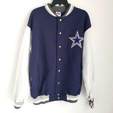 Vintage 90s Majestic Dallas Cowboys Varsity Jacket Mens L Knit Snap New w/ Tag