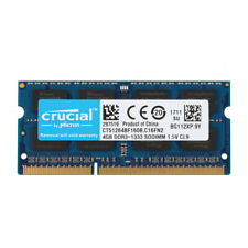 Crucial 4GB 2RX8 PC3-10600S DDR3 1333MHz 204pin CL9 SODIMM RAM Memory Laptop @ST