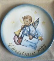 """Schmid 1983 Annual Christmas Collector Plate-Berta Hummel """" Angelic Messenger"""""""