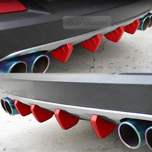 Bumper Diffuser Molding Aero Parts Lip Fin Body Spoiler Chin Red for SUBARU Car