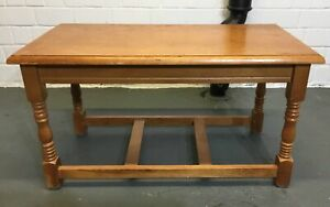 Refectory-Style Occasional/Coffee Table With Stretcher - 200521-05