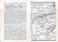 Ahrtal Neuenahr Sinzig 1913 kl. orig. Wanderkarten + Wanderf. (5 S.) Laach Brohl