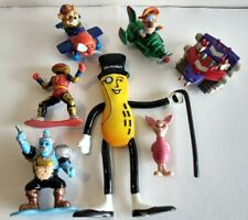 Mixed 90s toy figures LOT of 7 talespin, power rangers, piglet, Mr Peanut, Zbots