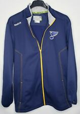 Reebok Mens XL NHL St Louis Blues Center Ice Zip Up Jacket Fleece lined Hockey
