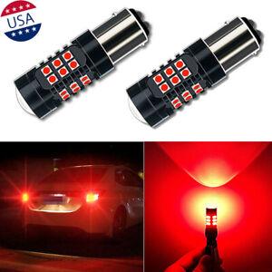 1157 30-SMD Red Strobe/Flashing Blinking Brake Tail Light Bulbs for Hyundai Kia