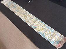 Japanese EDO Old Map and graffiti / 1865 EDO 慶応元年( keio )