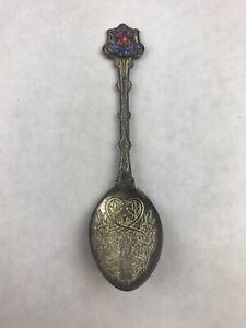 """England Engraved Silver Plated SSLO Collectible Souvenir Spoon 4.25"""""""