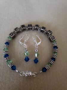 Seattle Seahawks Bracelet & Earring Set