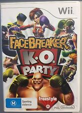 Facebreaker KO Party (VERY GOOD COND) Nintendo Wii Game K.O. Boxing