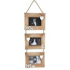 Portafotos y marcos decorativos marrón de madera para el hogar