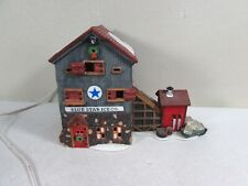 Dept 56 New England Village Blue Star Ice Co Christmas Village Building